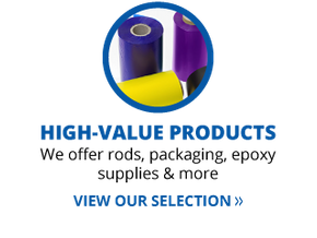 high-value products | we offer rods, packaging, epoxy supplues & more | view our selection